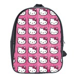 Hello Kitty Patterns School Bags(Large)  Front