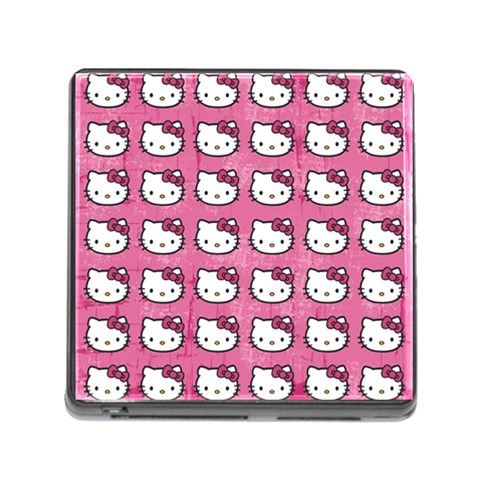Hello Kitty Patterns Memory Card Reader (Square)