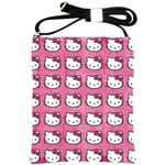Hello Kitty Patterns Shoulder Sling Bags Front