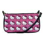 Hello Kitty Patterns Shoulder Clutch Bags Front