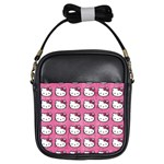 Hello Kitty Patterns Girls Sling Bags Front