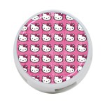 Hello Kitty Patterns 4-Port USB Hub (One Side) Front