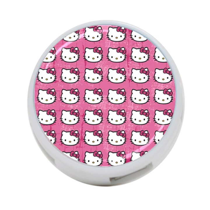 Hello Kitty Patterns 4-Port USB Hub (One Side)