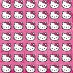 Hello Kitty Patterns Storage Stool 12   Top