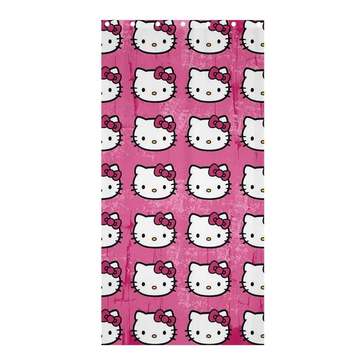 Hello Kitty Patterns Shower Curtain 36  x 72  (Stall)