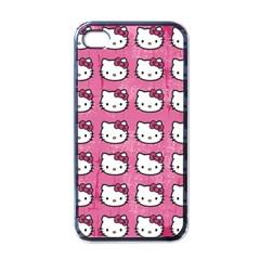 Hello Kitty Patterns Apple iPhone 4 Case (Black)