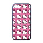Hello Kitty Patterns Apple iPhone 4 Case (Black) Front