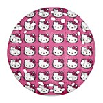 Hello Kitty Patterns Ornament (Round Filigree)  Front