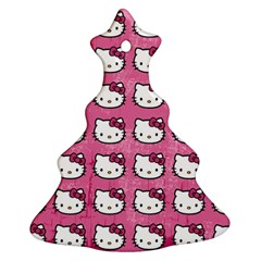 Hello Kitty Patterns Christmas Tree Ornament (2 Sides)