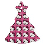 Hello Kitty Patterns Christmas Tree Ornament (2 Sides) Front