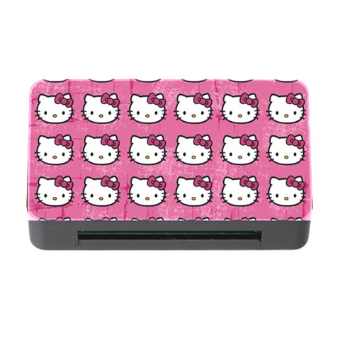 Hello Kitty Patterns Memory Card Reader with CF