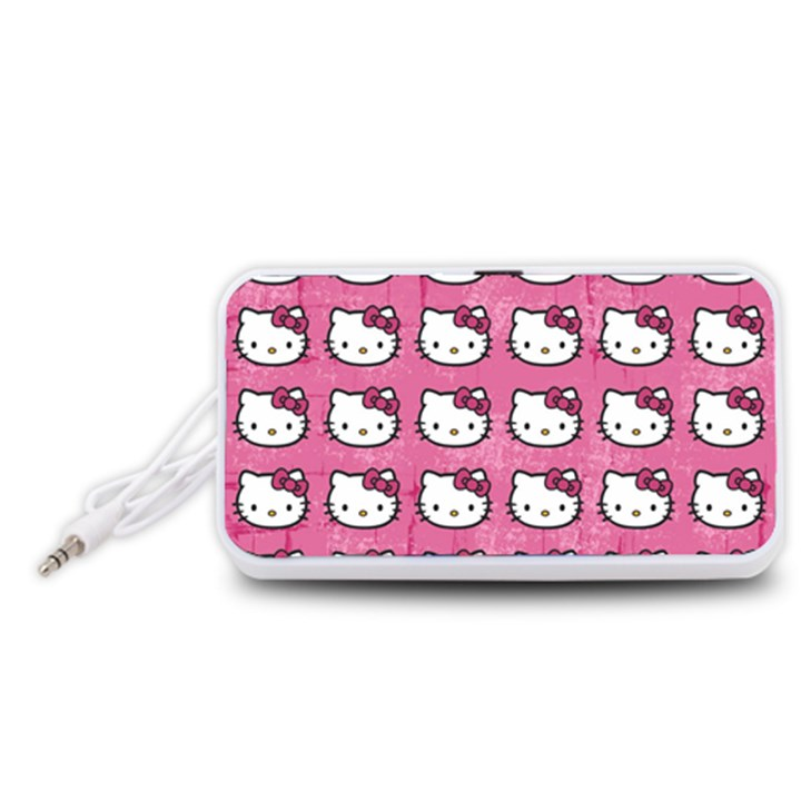 Hello Kitty Patterns Portable Speaker (White)