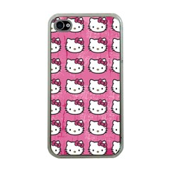 Hello Kitty Patterns Apple iPhone 4 Case (Clear)
