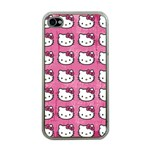 Hello Kitty Patterns Apple iPhone 4 Case (Clear) Front