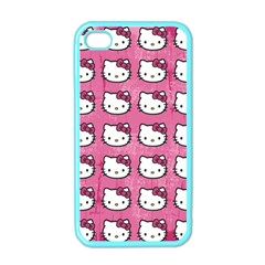Hello Kitty Patterns Apple iPhone 4 Case (Color)