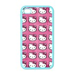 Hello Kitty Patterns Apple iPhone 4 Case (Color) Front