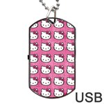 Hello Kitty Patterns Dog Tag USB Flash (Two Sides)  Back