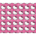 Hello Kitty Patterns Deluxe Canvas 14  x 11  14  x 11  x 1.5  Stretched Canvas