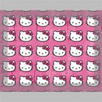 Hello Kitty Patterns Deluxe Canvas 16  x 12   16  x 12  x 1.5  Stretched Canvas
