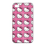Hello Kitty Patterns Apple iPhone 4/4s Seamless Case (Black) Front