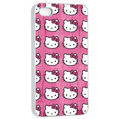 Hello Kitty Patterns Apple iPhone 4/4s Seamless Case (White)