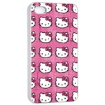 Hello Kitty Patterns Apple iPhone 4/4s Seamless Case (White) Front