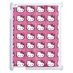 Hello Kitty Patterns Apple iPad 2 Case (White) Front
