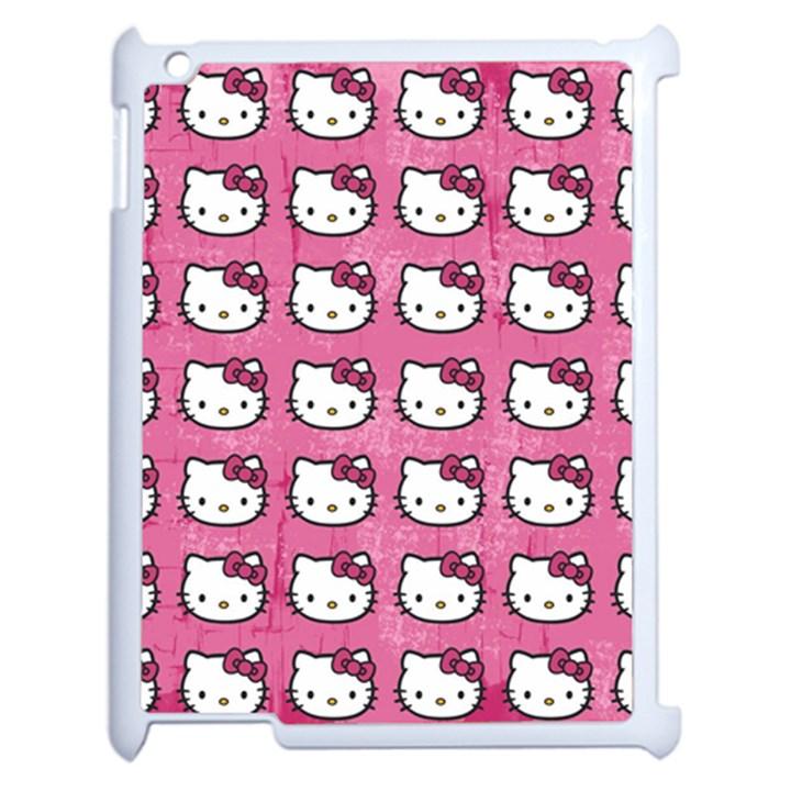 Hello Kitty Patterns Apple iPad 2 Case (White)