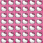 Hello Kitty Patterns Happy Birthday 3D Greeting Card (8x4) Inside