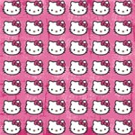 Hello Kitty Patterns MOM 3D Greeting Card (8x4) Inside