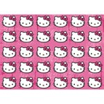 Hello Kitty Patterns BOY 3D Greeting Card (7x5) Front