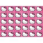 Hello Kitty Patterns BOY 3D Greeting Card (7x5) Back