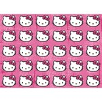 Hello Kitty Patterns Heart 3D Greeting Card (7x5) Back