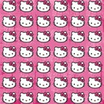 Hello Kitty Patterns Twin Heart Bottom 3D Greeting Card (8x4) Inside