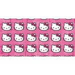 Hello Kitty Patterns Twin Heart Bottom 3D Greeting Card (8x4) Back