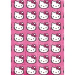 Hello Kitty Patterns WORK HARD 3D Greeting Card (7x5) Inside