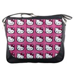 Hello Kitty Patterns Messenger Bags Front