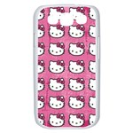 Hello Kitty Patterns Samsung Galaxy S III Case (White) Front
