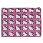 Hello Kitty Patterns Cosmetic Bag (XXL)  Back