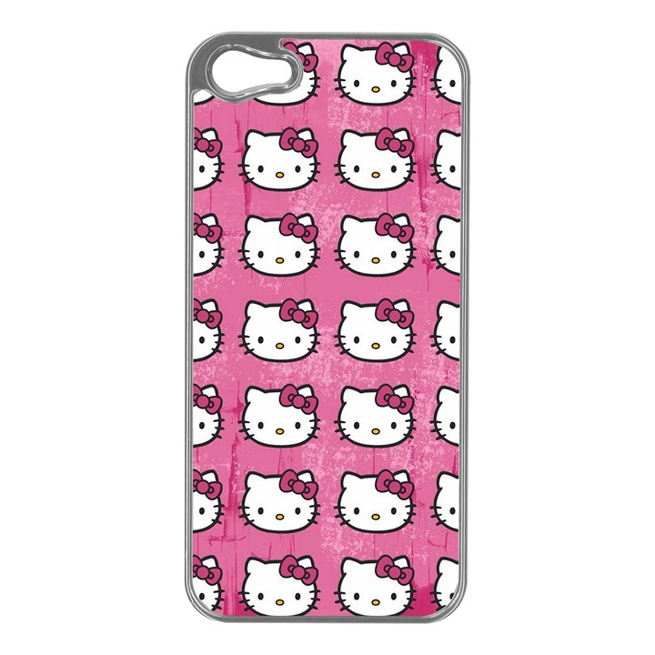Hello Kitty Patterns Apple iPhone 5 Case (Silver)