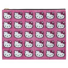 Hello Kitty Patterns Cosmetic Bag (XXXL)
