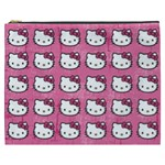 Hello Kitty Patterns Cosmetic Bag (XXXL)  Front