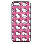 Hello Kitty Patterns Apple iPhone 5 Seamless Case (Black) Front