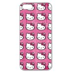 Hello Kitty Patterns Apple Seamless iPhone 5 Case (Clear) Front