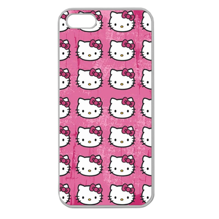 Hello Kitty Patterns Apple Seamless iPhone 5 Case (Clear)