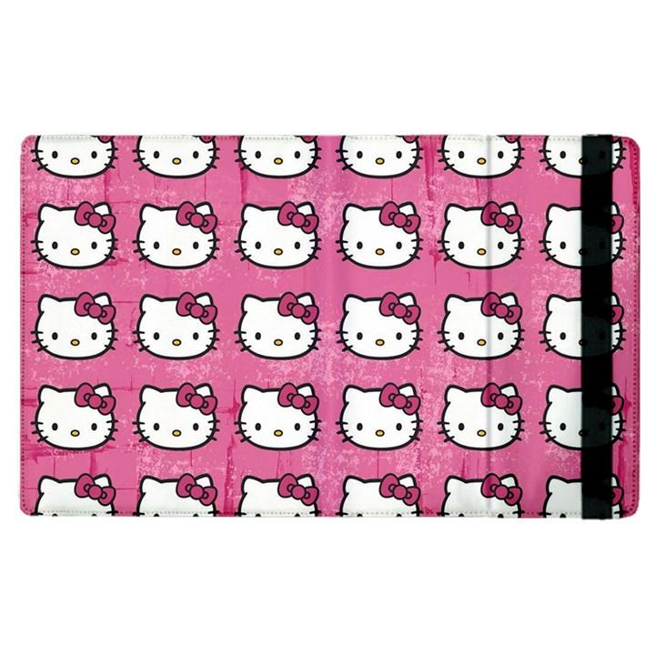 Hello Kitty Patterns Apple iPad 2 Flip Case