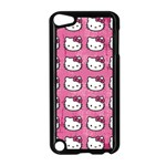 Hello Kitty Patterns Apple iPod Touch 5 Case (Black) Front