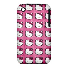 Hello Kitty Patterns Apple iPhone 3G/3GS Hardshell Case (PC+Silicone)