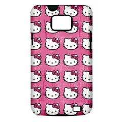 Hello Kitty Patterns Samsung Galaxy S II i9100 Hardshell Case (PC+Silicone)