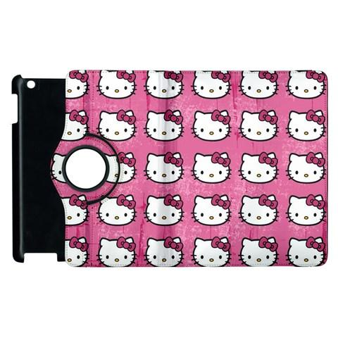 Hello Kitty Patterns Apple iPad 2 Flip 360 Case